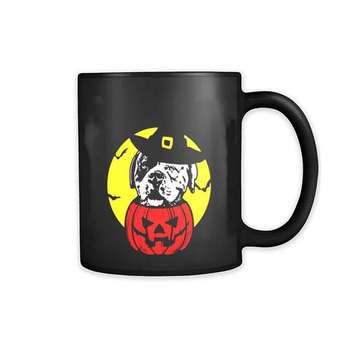 American Bulldog Pumpkin Scary Halloween 11oz Mug
