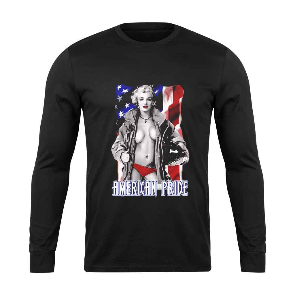 American Pride Marilyn Monroe Long Sleeve T-Shirt