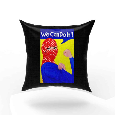 Arabic Hijab We Can Do It Pillow Case Cover