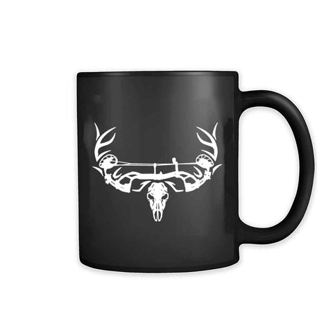 Archery Bow Hunting Deer Skull 11oz Mug