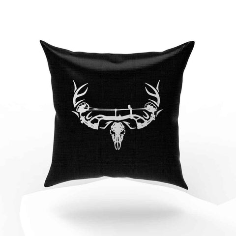 Archery Bow Hunting Deer Skull Pillow Case Cover