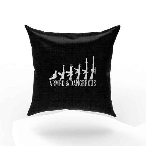 Armed And Hammered Guns Logo Pillow Case Cover