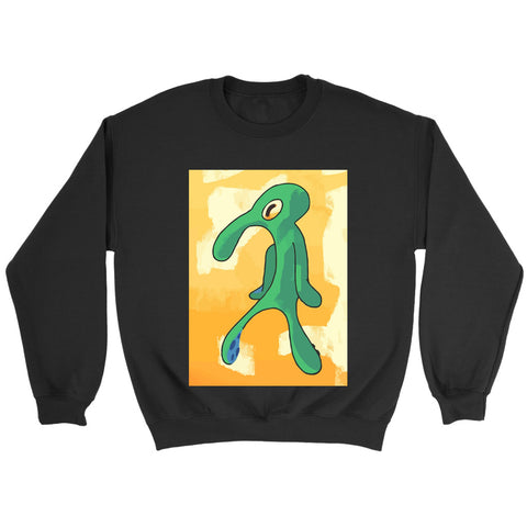 Artist Unknown Painting Replica Funny Squidward Sweatshirt