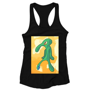 Artist Unknown Painting Replica Funny Squidward Woman's Racerback Tank Top