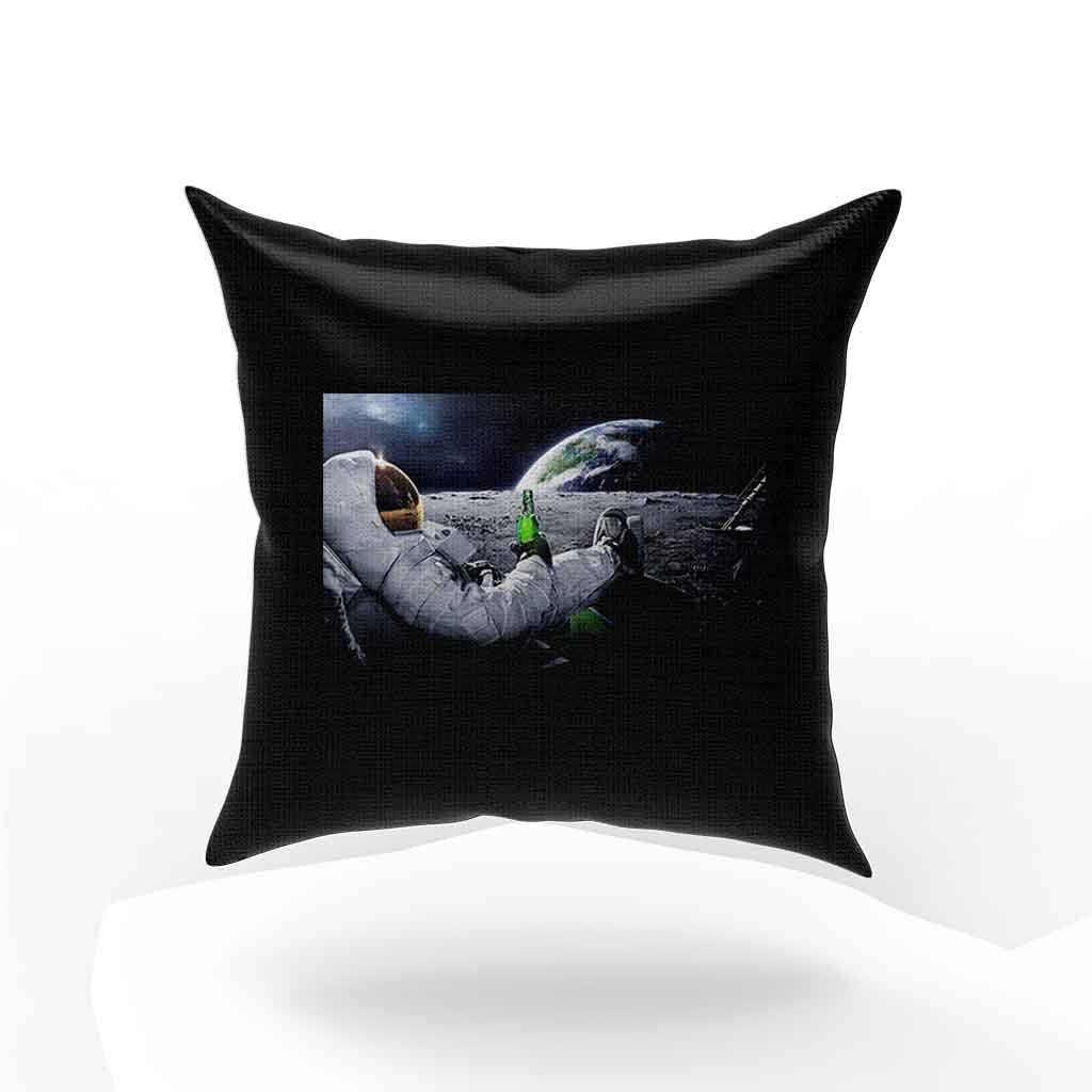 Astronauts On The Moon Fabric Cloth Rolled Pillow Case Cover