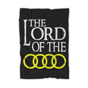 Audi Lord Of The Rings Logo Auto Moto Funny Blanket