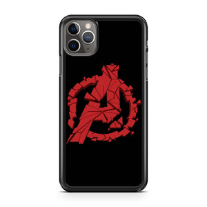 Avengers Endgame Shuttered Logos iPhone 11 Pro Max Case