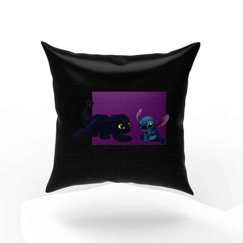 Baby Toothless Dragon And Stitch Pillow Case Cover