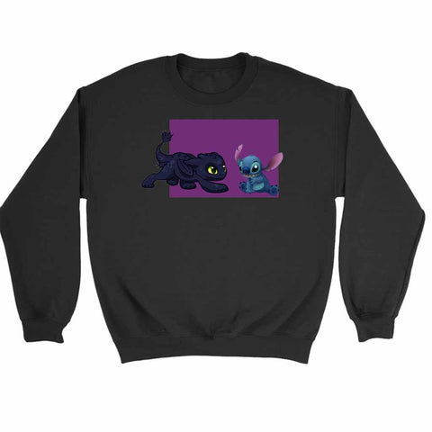 Baby Toothless Dragon And Stitch Sweatshirt