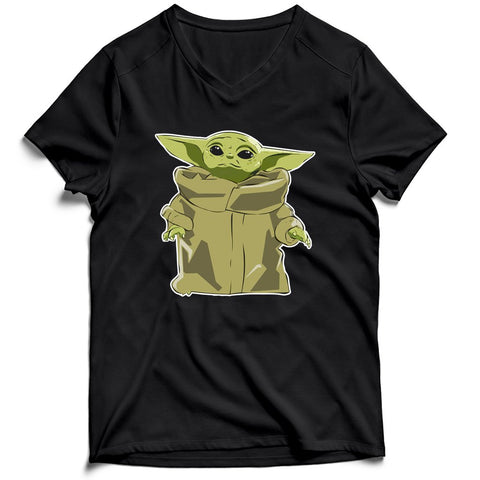 Baby Yoda Men's V-Neck Tee T-Shirt