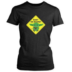 Baby Yoda Baby On Board Women's T-Shirt