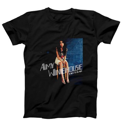 Back To Black Amy Winehouse Poster Men's T-Shirt