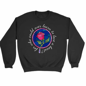 Beauty And The Beast Rose Quote Sweatshirt