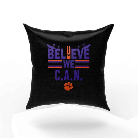 Believe We Can Clemson Pillow Case Cover