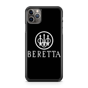 Beretta White Logo Pro Gun Rights Rifle Pistol iPhone 11 Pro Max Case