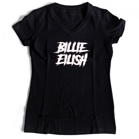Billie Eilish Women's V-Neck Tee T-Shirt