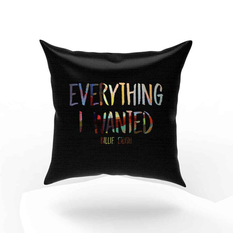 Billie Eilish Everything I Wanted Logo Pillow Case Cover