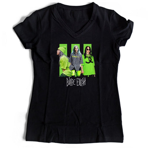 Billie Eilish Queen Women's V-Neck Tee T-Shirt