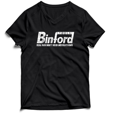 Binford Tools Funny Real Men Do Not Need Instructions Men's V-Neck Tee T-Shirt