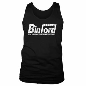 Binford Tools Funny Real Men Do Not Need Instructions Men's Tank Top