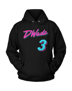 Black Miami D Wade Vice City Unisex Hoodie