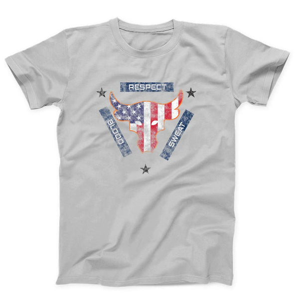 Blood Sweat Respect Usa Flag The Rock Under Armour Project Grunge  Men's T-Shirt