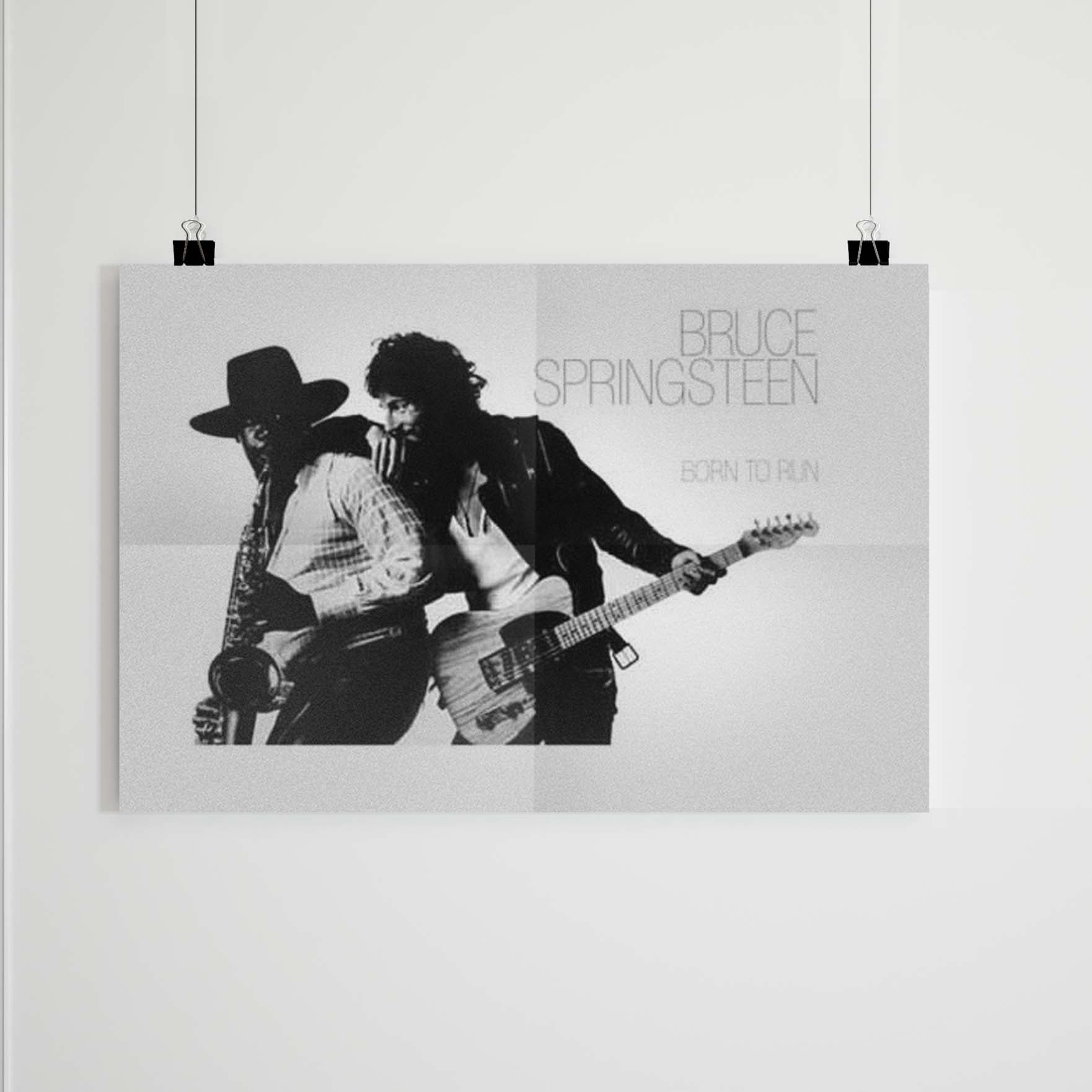 Bruce Springsteen Born To Run Album Cover Poster