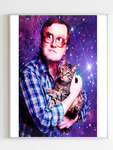 Bubbles Of Trailer Park Boys With Cat Poster