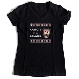 Carrots For The Reindeer Women's V-Neck Tee T-Shirt