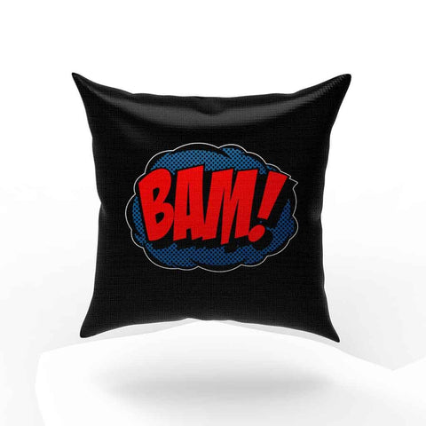 Comic Bam Loose Fit Funny Slogan Joke Pillow Case Cover