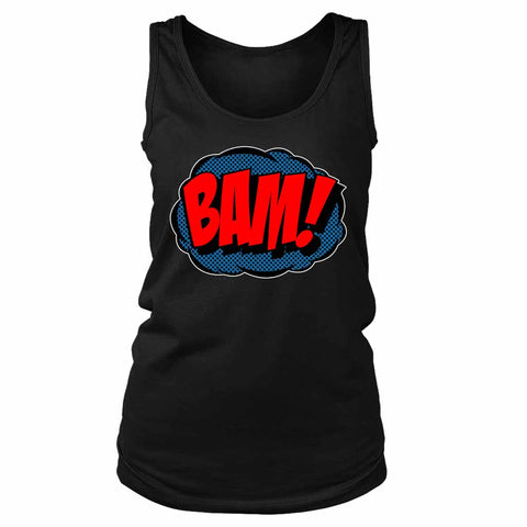 Comic Bam Loose Fit Funny Slogan Joke Women's Tank Top