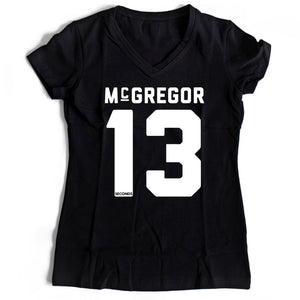 Conor Mcgregor 13 Seconds Women's V-Neck Tee T-Shirt