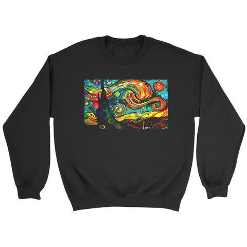 Dean Russo Van Gogh Starry Night Modern Art Sweatshirt