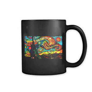 Dean Russo Van Gogh Starry Night Modern Art 11oz Mug