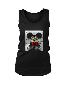 Disney Mickey Mouse Mugshot Women's Tank Top