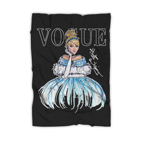Disney Princess Cinderella Vogue Art Blanket