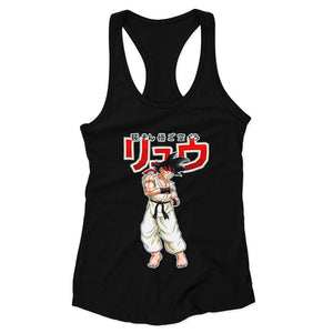 Dragon Fighter Woman's Racerback Tank Top