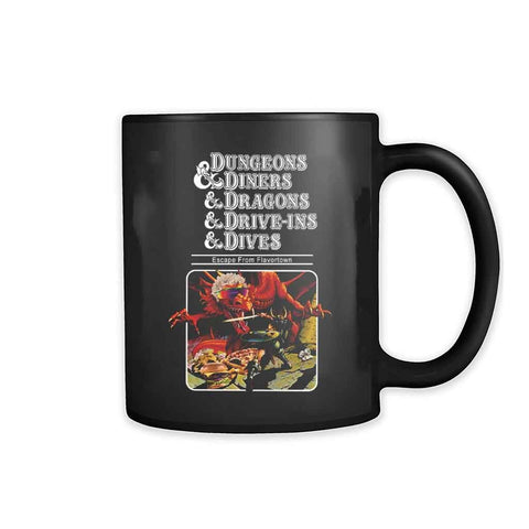 Dungeons Diners Dragons Drive Ins Dives Dungeons Dragons 11oz Mug