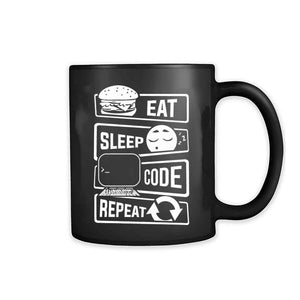 Eat Sleep Code Repeat 11oz Mug