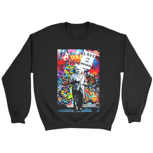 Einstein Love Is The Answer Sweatshirt
