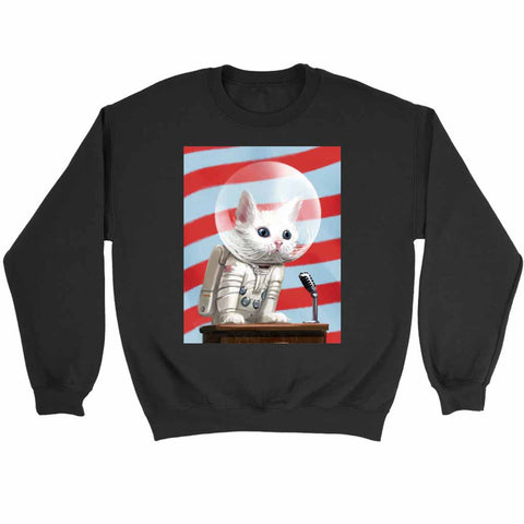Fallout 4 Poster Mr Pebbles First Cat In Space Sweatshirt