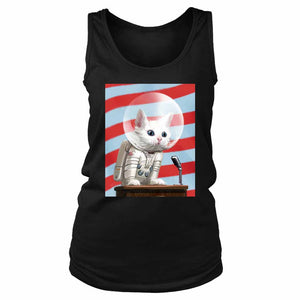Fallout 4 Poster Mr Pebbles First Cat In Space Women's Tank Top