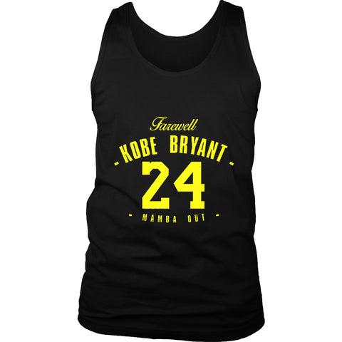 Farewell Black Mamba 24 Kobe Bryant Trikot Legend Mamba Out Lakers Men's Tank Top
