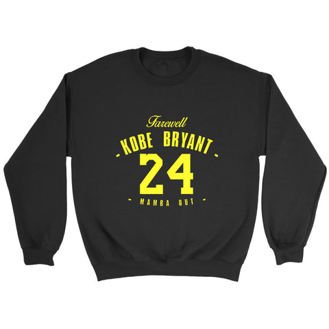 Farewell Black Mamba 24 Kobe Bryant Trikot Legend Mamba Out Lakers Sweatshirt