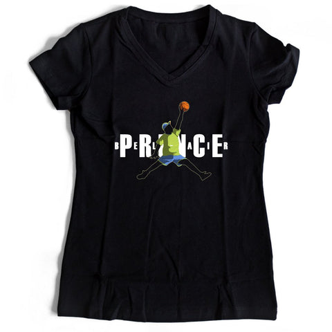 Fresh Prince Air Jordan Mash Up Women's V-Neck Tee T-Shirt