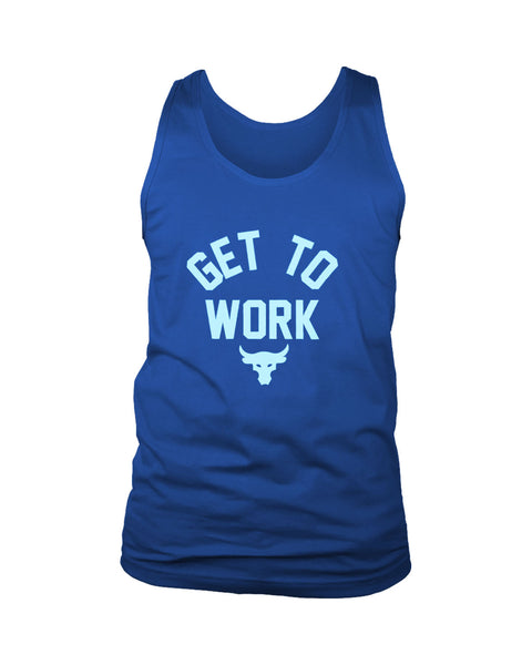 Get To Work The Rock Under Armor Project Men's Tank Top