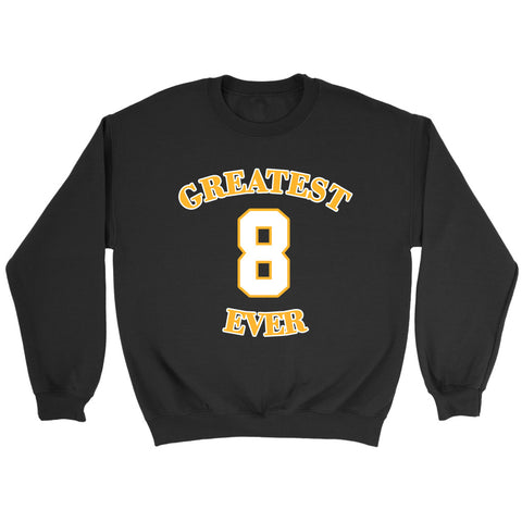 Gold Los Angeles 8 Kobe Bryant  Greatest Ever Sweatshirt
