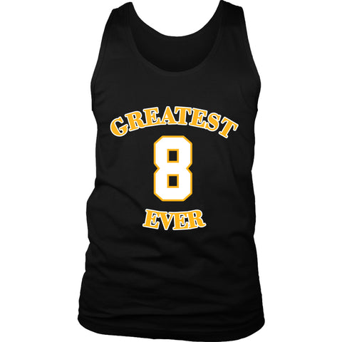 Gold Los Angeles 8 Kobe Bryant  Greatest Ever Men's Tank Top