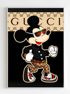 Gucci Mickey Mouse Poster