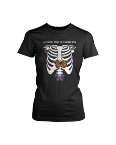 Halsey Without Me Skelleton Butterfly  Women's T-Shirt